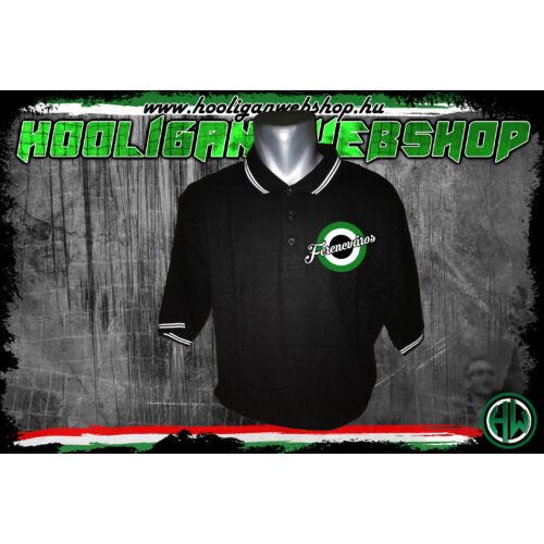 Zöld-fehér-fekete, Ferencváros Női galléros póló
